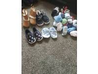 Baby 0-3 shoes, socks and mittens