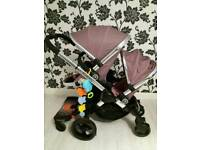 Reduced!! Icandy Peach 3 Marshmallow Double buggy excellent condition with Buggy board I candy