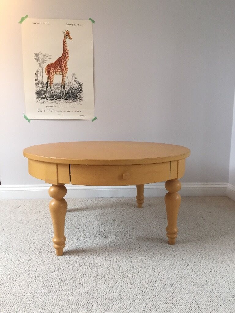 Ikea Isala Coffee Table Painted In Annie Sloan Arles Yellow
