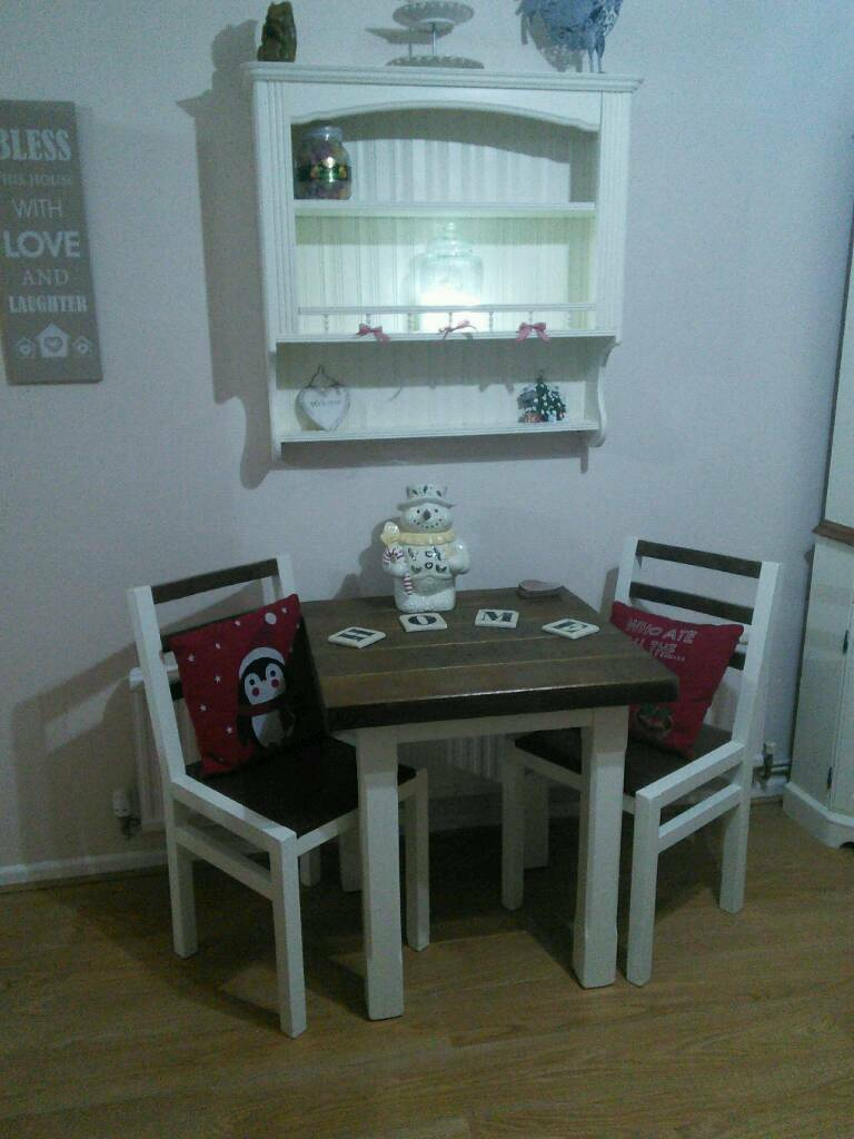 Shabby chic table and chairs, country kitchen, solid wood | in ...