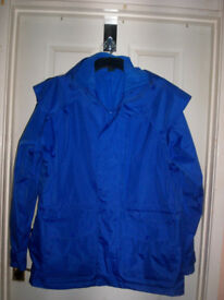 cotton traders lined jacket with attached hood size L good clean condition