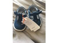 Girls brand new navy shoes size 2