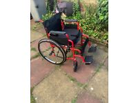 SELF PROPEL FOLDING WHEELCHAIR BRAND NEW WITH MEM FOAM CUSHION CAN DELIVER