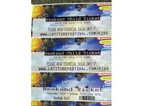 Latitude tickets, 1adult, 2 child, family camping. Thursday 14th-17th July 2016