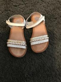 Girls white sandals size eu 29 or Size 11