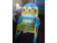 Fisher price swing with music, 2 speed swing and 2 volume settings