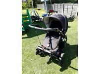 Britax b smart pram with buggy board stroller pushchair