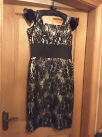 Kate fearnley black and silver designer dress. Size 12