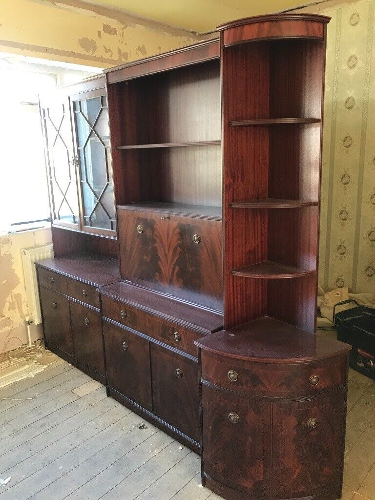 antique living room furniture set in brown  in lancing