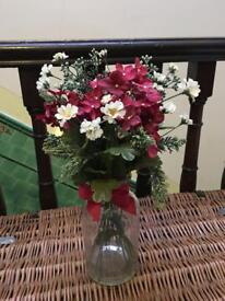 Artificial vase of flowers