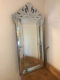 Large Venetian wall mirror