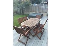 Hardwood Patio 6-Seater Garden Furniture Set