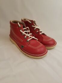 Kickers | Womans Kick Hi Classic | Size UK 5 | Red Leather | RRP £85 | BNWT