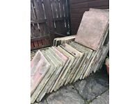 80 patio slabs