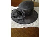 Ladies formal navy hat