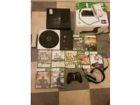 Xbox 360s 250gb Mega Bundle 9+ Games 3 controllers charge kit hdmi cable