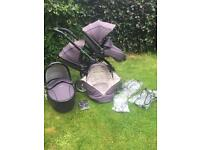Double Egg Stroller and Carrycot