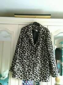 Sainsburys animal print jacket ,size 12\14 near crumlin newbridge blackwood.o.n.o.