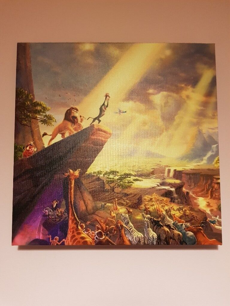 THOMAS KINKADE - LIMITED EDITION LION KING   in Risca, Newport   Gumtree
