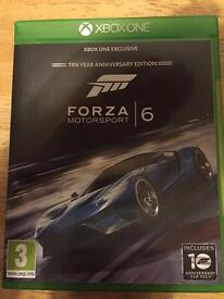 Tomb raider, forza motorsport 6 xbox one