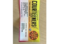 Courteeners ticket X1 Saturday 27th May