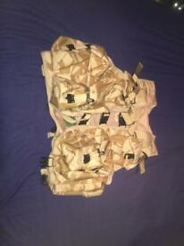 Desert camo tactical ops waistcoat (ideal for airsoft)