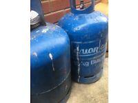 Gas bottles full some half full or more