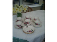 English China Rose Tea Set