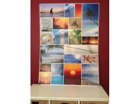 Colourful Beach/Sunset/Palm Tree Artwork on hard board