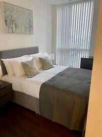 Spacious studio flat in Canary Wharf part dss welcome