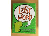 last word the game board game - used once