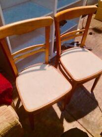 2 X 1960's vintage kitchen chairs