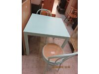Table - Cambridge blue chic and cheap + 2 Bistro chairs (Cambridge Re-Use)