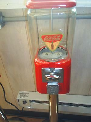 """VINTAGE- 1960's Coca Cola THEMED """"Oak"""" Candy / guumball Machine Glass globe NICE for sale  Franklinton"""