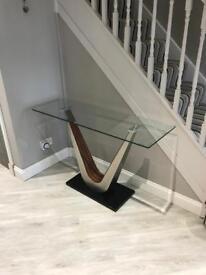 Modern Glass Hall Table