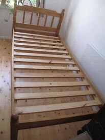 Pine Single Bed Frame , 3 ft, and mattress