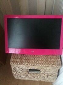 Pink 19 inch TV