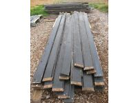 JOB LOT OF RECLAIMED TIMBER PLANKS CLADDING 5.5 inches x 3/4 Nr Brighton