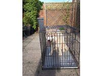 Folding dog cage (Husky not included)
