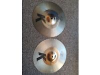 "Zildjian K Custom Hybrid Hi-Hats 14 & 1/4"": Used but great condition"