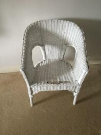 Chic Rattan white chair