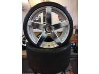 """Porsche 20"""" Alloy Wheels and Michelin PSS Tyres. Wheels are Victor Equipment Baden"""