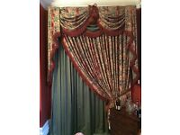 Quality, heavy duty, fully interlinked tasselled curtains