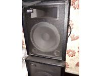 Pro eminance speakers 8ohms 160watts music in very good condition £80 ovno