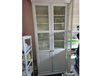IKEA Bookcase with glass-doors, white96x214 cm