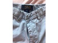 Ralph Lauren boys blue trousers age 5
