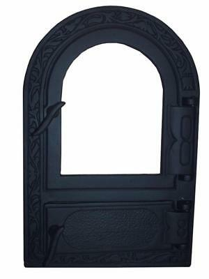 Cast Iron Fire Door Clay Bread Oven Pizza Stove Fireplace Black (PY) 50 x 33