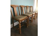 4 wooden chairs in need of TLC - for upcycling