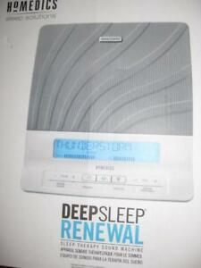 HoMedics Deep Sleep Renewal. Sleep Therapy Machine. Soothing Nature Relax Sound. Dual Speaker. Wireless Remote. NEW