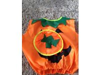 pumpkin toddler outfit and hat for halloween